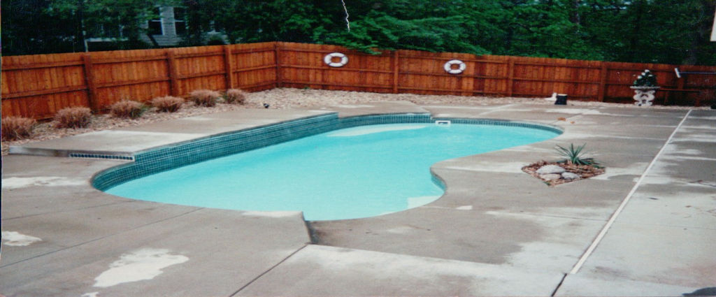 Backyard Pool Before